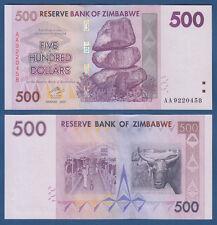 SIMBABWE / ZIMBABWE 500 Dollars 2007  UNC  P. 70
