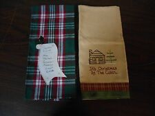 2 Christmas Tea Towels Never Been Used