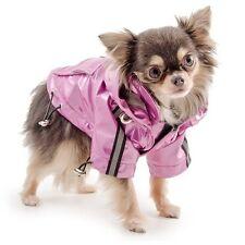 Ancol Small Bite Dog Rain Coat Waterproof Mac Jacket & Hood Pink Various Sizes