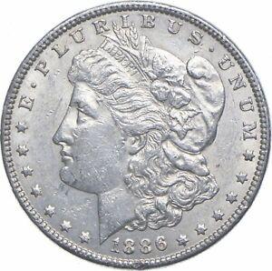 Early - 1886 Morgan Silver Dollar - 90% US Coin *861