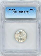 1944-S 10C FB Mercury Dime ICG MS65