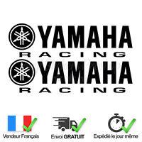 2 Stickers Yamaha Racing Noir Brillant Autocollant Moto Adhésif tuning sport pro