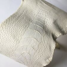 Genuine CRUST Ostrich Leg Skin Leather Hide Vegetable Tanned Semi-finished Skin