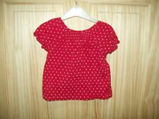 ***SALE***  MOTHERCARE RED BLOUSE 18-24 MTHS ***