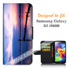 For Samsung Galaxy S5 i9600 Wallet Flip Phone Case Cover Live for Fishing Y00973