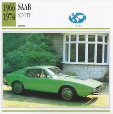 1966-1974 SAAB SONETT Sports Classic Car Photo/Info Maxi Card