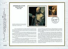 FEUILLET CEF / DOCUMENT PHILATELIQUE / GEORGES DE LA TOUR 1993 VIC SUR SEILLE
