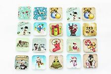 Christmas Wooden Sewing Button 15mm 50pcs