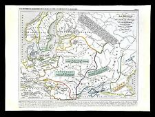 1849 Houze Map - 5th c. Russia Sweden Norway Denmark Barbarian Europe Goths