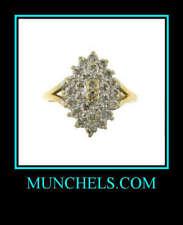 10K Yellow Gold Ladies Diamond Cocktail Ring