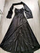 Kleid Abendkleid Gr. S schwarz Lang Satin