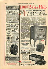 1930 ADVERT 2 PAGE Weber Fly Fishing Tackle Store Display Case Henshall Reel
