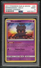2017 Pokemon Sun & Moon Shining Legends 45 Marshadow-Holo-PSA 9 MINT 🔥