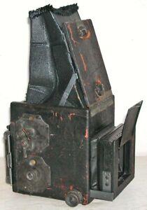 Antique Auto Graflex SLR Camera B&L Zeiss Tessar f4.5 Lens Folding Hood c1911