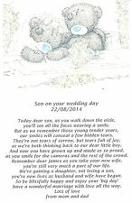 PERSONALISED WEDDING GIFT POEM SON ON YOUR WEDDING DAY