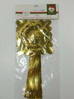 NOS Vintage Kurt Adler Japan Gold Foil Fringe 9 foot Garland