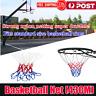 New Red White Blue Basketball Net Nylon Hoop Goal Rim Mesh Net Sports FI