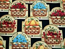 """""""Fruit Baskets""""  by Angela Anderson for V.I.P. by Cranston - 100% Cotton- NEW"""