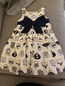 Baby Girl Next White Handbag Design Dress Size 18-24 Months