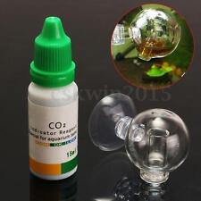 Aquarium de dioxyde de carbone CO2 Checker Testeur Moniteur indicateur de pH en Verre Goutte Boule