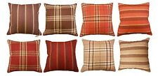 CHECK STRIPE CUSHION COVERS LUXURY TARTAN DOUBLE SIDE DESIGN HOME DECOR QUALITY