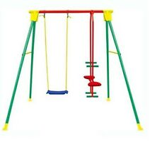Altalena kiko 3 in metallo gioco per bambini da 3 a10 anni gioco esterno