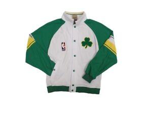 Boston Celtics Youth Hardwood Classics Button Warm Up Jacket