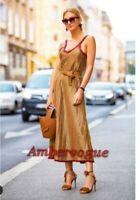 Zara Midi Red Dress Limited Edition Size M UK 12