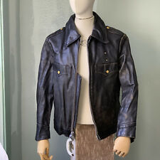 '70s Horsehide NYC POLICE Jacket by SCHOTT sz 42 Vtg Black Leather NYPD New York