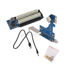 2.6 FT PCI-E Express X1 to Dual PCI Riser Extend Adapter Card With USB 3.0 Cable