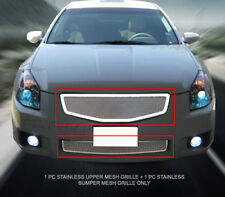 Fits 2007-2008 Nissan Maxima Stainless Steel Mesh Grille Combo Insert Fedar