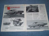 """1966 Dodge Hemi Charger Vintage Info Article """"The First. The Fastback, The Fast"""""""