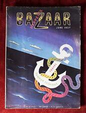 Harper's Bazaar Magazine ~ June 1937 ~ Cassandre Cover Meerson Mariette Lydis