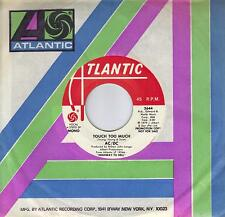 AC/DC  Touch Too Much  rare promo 45 from 1979