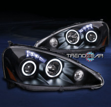 FOR 2005-2006 ACURA RSX CCFL HALO LED BLACK PROJECTOR HEADLIGHTS HEADLAMPS LAMPS