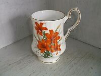 Royal Windsor PRAIRIE LILY Mug Cup 10 oz Orange Flowers English Bone China