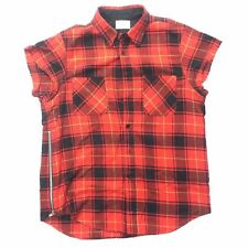 Fear Of God - Third Collection - Red/Black Plaid S/S Flannel - Size XL