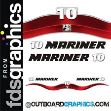 Mariner 10hp 2 stroke outboard decals/sticker kit