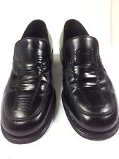Bally Men's Designer Leather Black Coreto Loafer  Made In ITALY Size 9.5 D