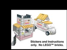 Instructions Stickers  LEGO Dunkin Donut van and stand 60150