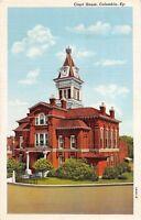 D96/ Columbia Kentucky Ky Postcard Linen Court House Building