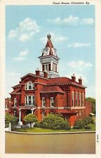 D96/ Columbia Kentucky Ky Postcard Linen Court House Building