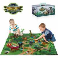 Dinosaur Playset Realistic Toy Figures Activity Playmat Educational Jurassic