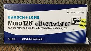 Bausch & Lomb Muro 128 5% Ointment 1/8 oz 3.5g  Expiration date May 2022