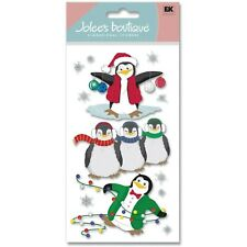 CHRISTMAS WINTER Penguins Snow Snowflakes Holiday Decorations Jolee's Stickers