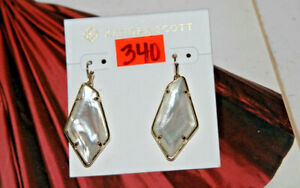 #340 KENDRA SCOTT Emmie 14k Gold Plated Ivory Mother-of-Pearl Drop Earrings