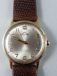 Solar Vintage watch men's, working, nice collector watch !