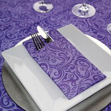 25 Mank Airlaid Ornament Besteckservietten lila/flieder Stoffähnlich Stoffoptik