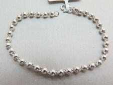 New Pure Platinum 950 Chain Men's Smooth Bead Link Bracelet  6.4inch PT950