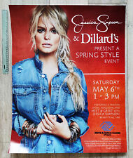 Jessica Simpson Collection Promo Poster Dillard's Meet Very Rare Open Book
